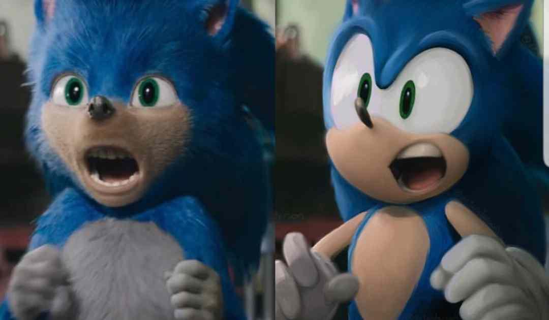 Immagine che circola su Internet riguardo al nuovo redesign di Sonic per il film
