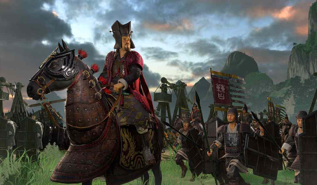 Screenshot da Total War: Three Kingdoms che mostra il signore della guerra Cao Cao