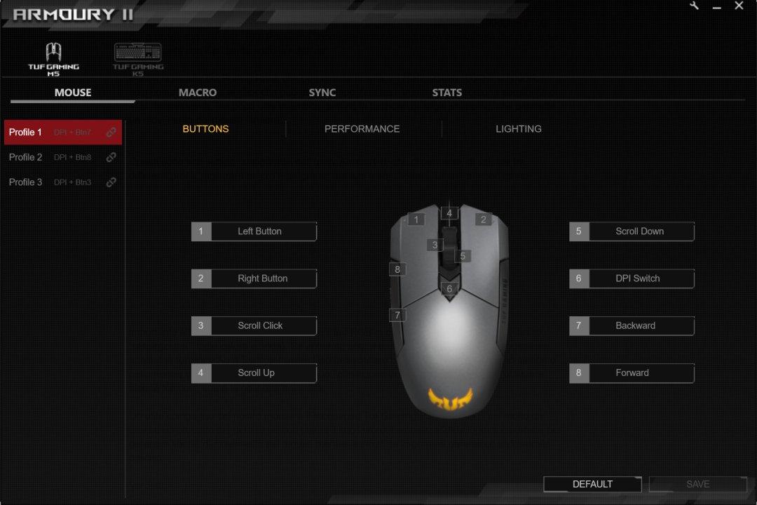 armoury II asus rog M5 profili