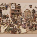 Artwork che mostra tutti i Jobs di Final Fantasy Tactics