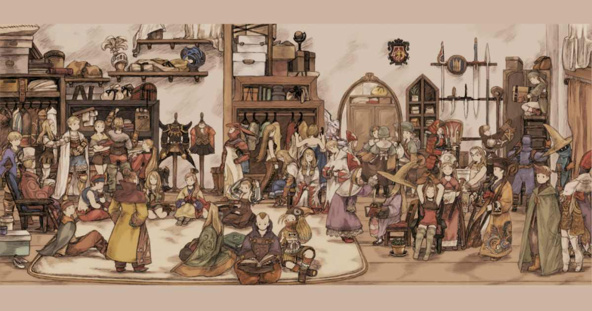 Artwork che mostra tutti i Jobs di Final Fantasy Tactics