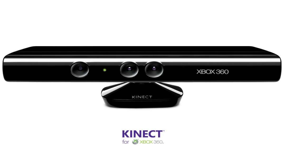 Fotografia del Kinetct, periferica Microsoft per Xbox 360 che leggeva i movimenti del corpo