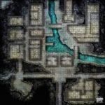 Mappa di un villaggio sotterraneo per D&D e GdR