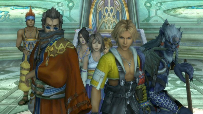 final fantasy x tutti i personaggi assieme