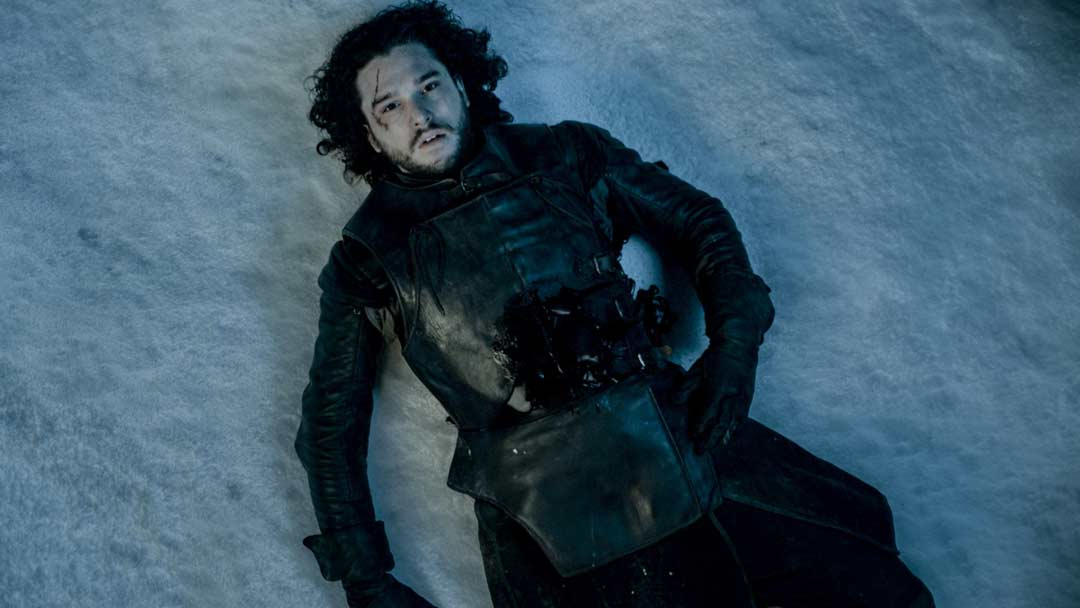 Game of thrones Jon Snow muore male
