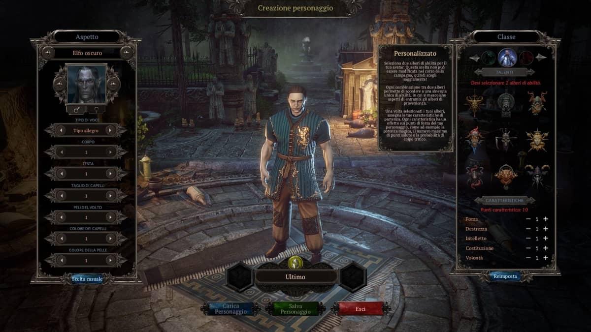 Creazione personaggio Elfo Oscuro