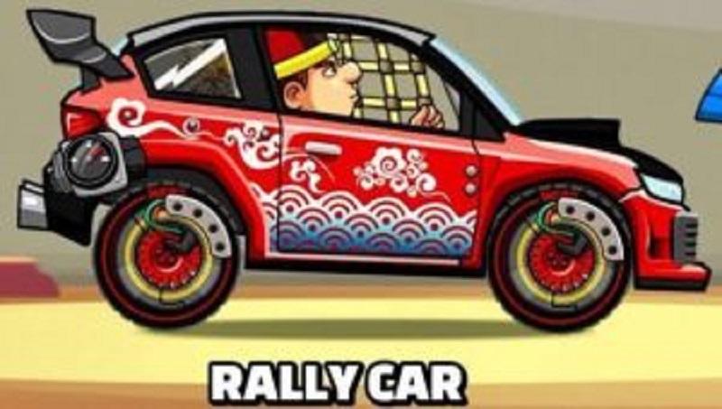 macchina da rally, la seconda migliore macchina di hill climb racing 2