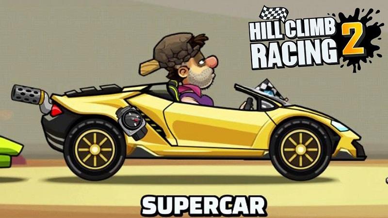 supercar, il miglior veicolo di hill climb racing 2