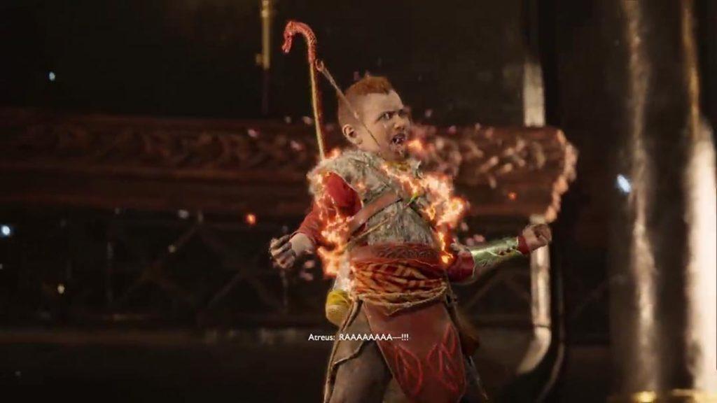 Atreus usa la Spartan Rage per la prima volta