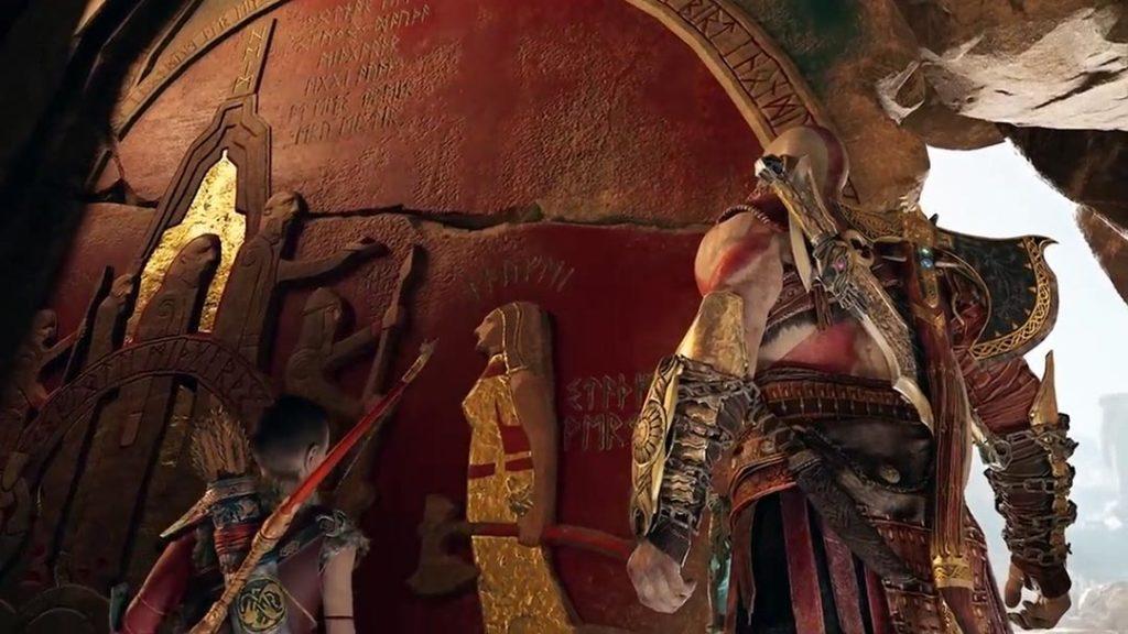 Il murale che raffigura Faye come Guardiana degli Jǫtnar