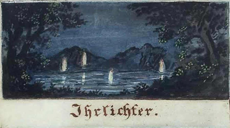 Un'illustrazione che raffigura dei fuochi fatui o will-o-the-wisp