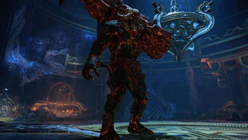 Grendel delle Ceneri, uno dei troll guardiani in God of War 4