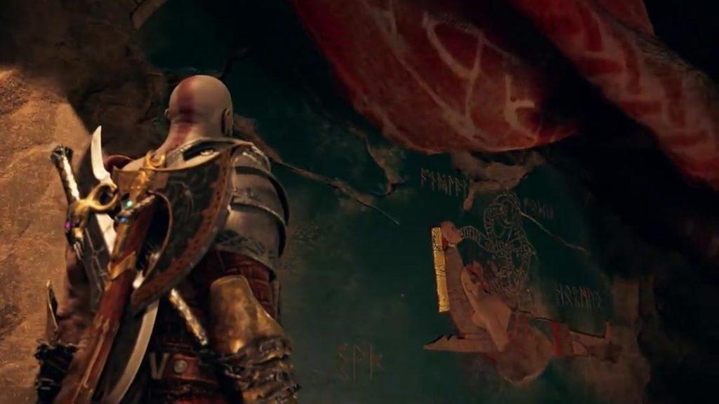 Il bassorilievo che, presumibilmente, mostra la morte di Kratos fra le braccia di Atreus