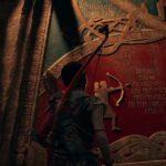 Il bassorilievo che narra lo scontro fra Kratos, Atreus e Baldur