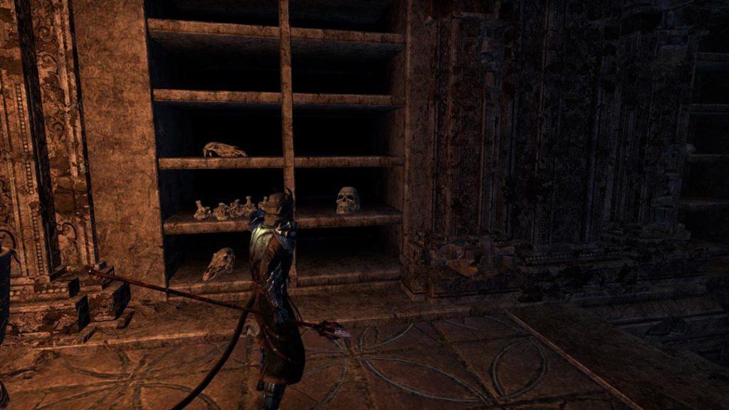 Il negromante esplora una cripta