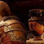 Il passato di Kratos su un vaso greco nel Tempio di Tyr