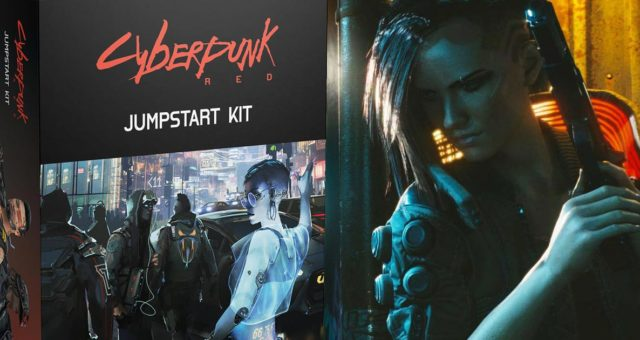La scatola del Jumpstart Kit di Cyberpunk Red