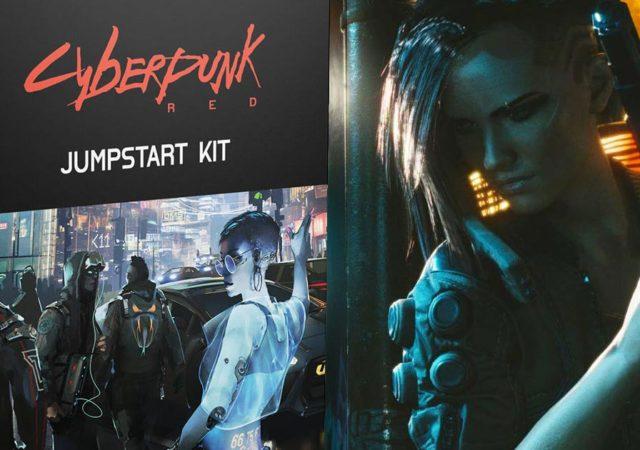 La scatola del Jumpstart Kit di Cyberpunk Red