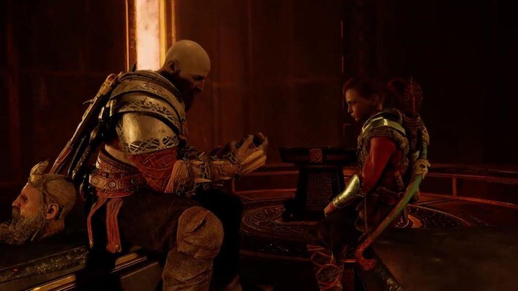 Kratos, Atreus e il vino di Lemno in God of War 4