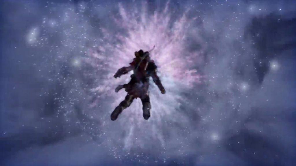 Kratos e Atreus viaggiano nel Regno tra i Regni grazie alla Unity Stone di Tyr