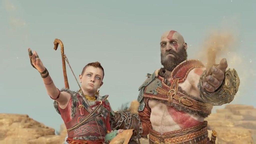Kratos e Atreus spargono le ceneri di Faye - Laufey dalla vetta più alta di Jotunheim
