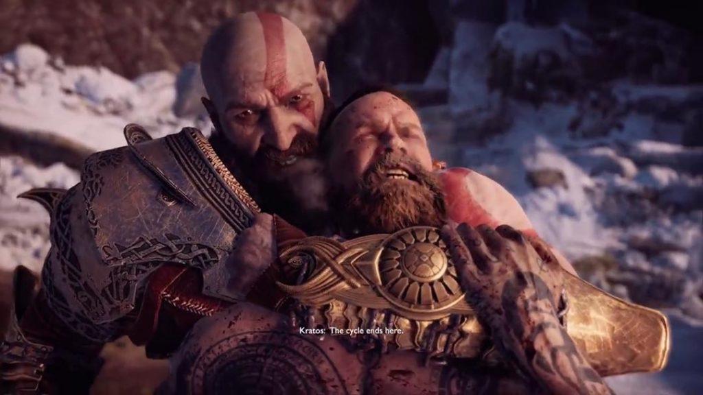 Kratos uccide Baldur, mettendo fine al ciclo della vendetta