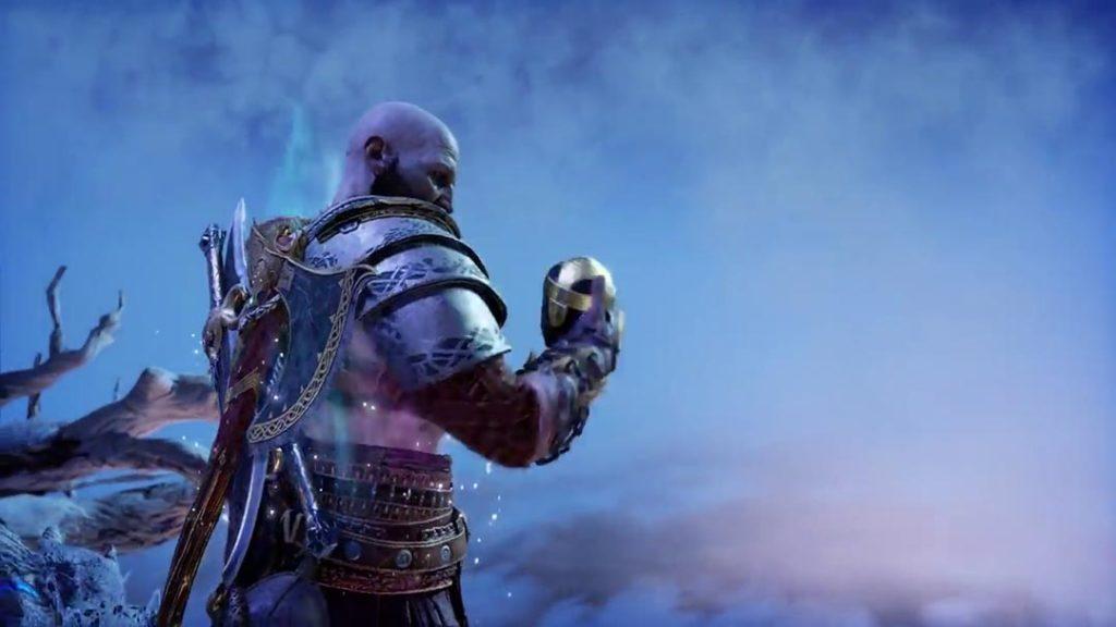 Kratos usa la Unity Stone di Tyr per viaggiare nel Regno tra i Regni