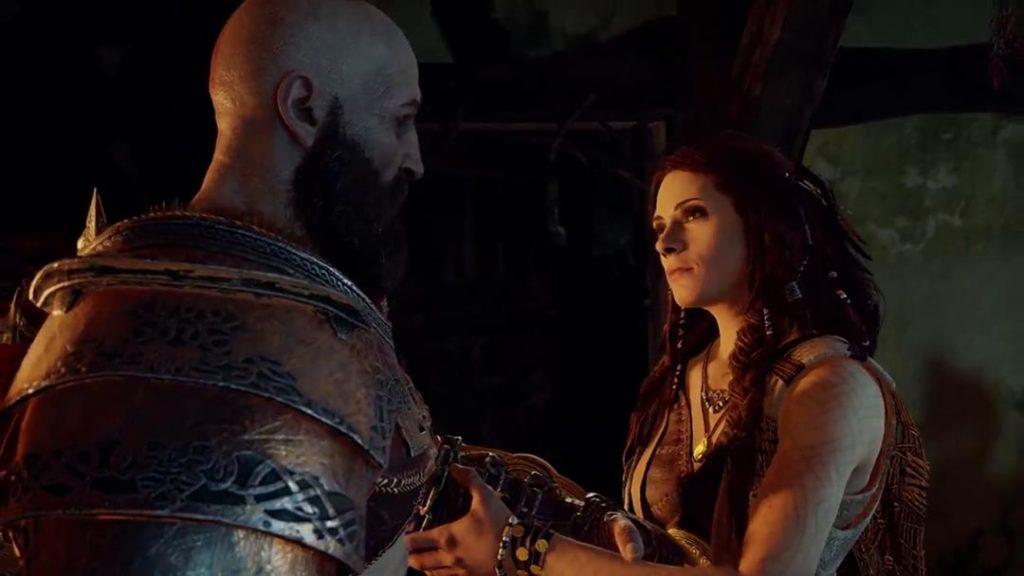 Freya nella veste di alleata di Kratos e Atreus, prima dell'uccisione di Baldur