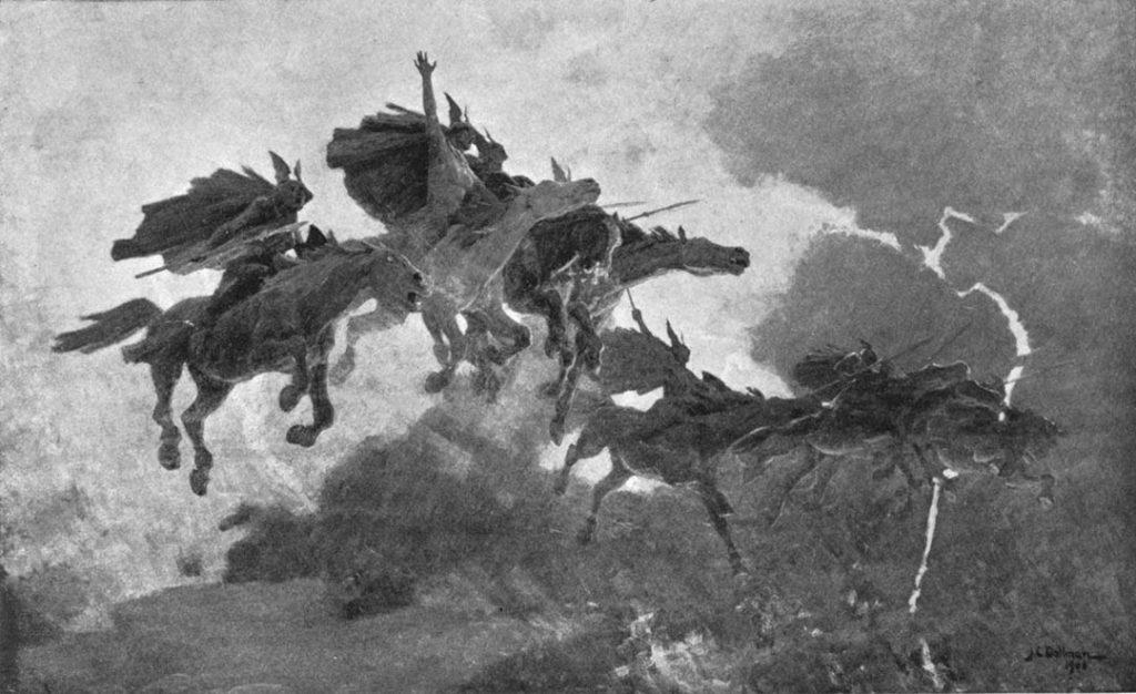 La cavalcata delle valchirie - John Charles Dollman