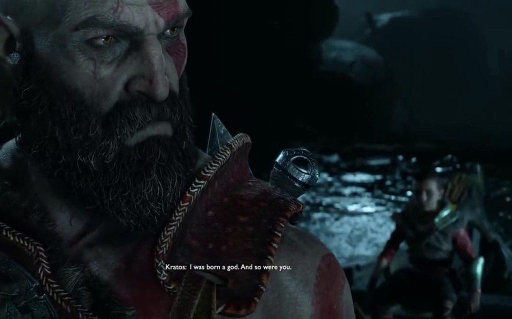 La confessione di Kratos ad Atreus