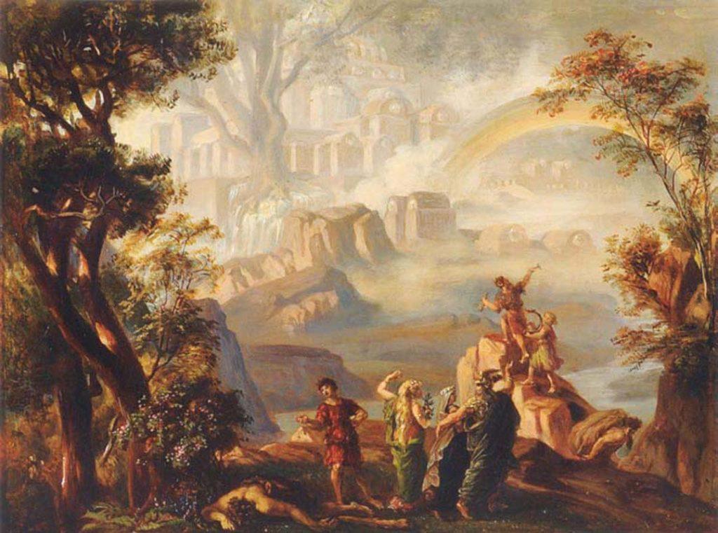 La scena finale dell'Anello del Nibelungo - Josef Hoffmann - Richard Wagner Museum (Bayreuth)