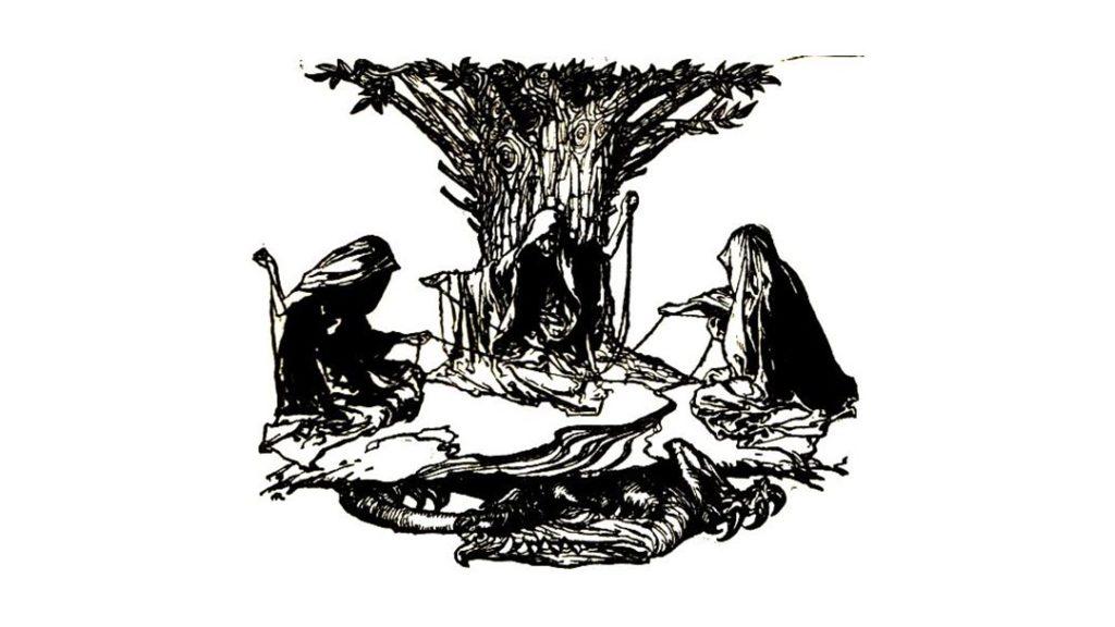 Le Norne tessono il destino - Arthur Rackham