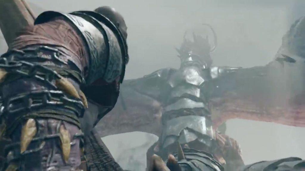 Lo scontro aereo fra Kratos e Baldur, sul dorso del drago di Baldur