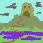 Lo schizzo di partenza per realizzare un paesaggio per il gioco di ruolo