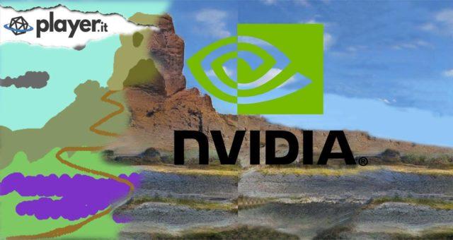 Un paesaggio realizzato con nVidia Guagan, partendo da un semplice schizzo