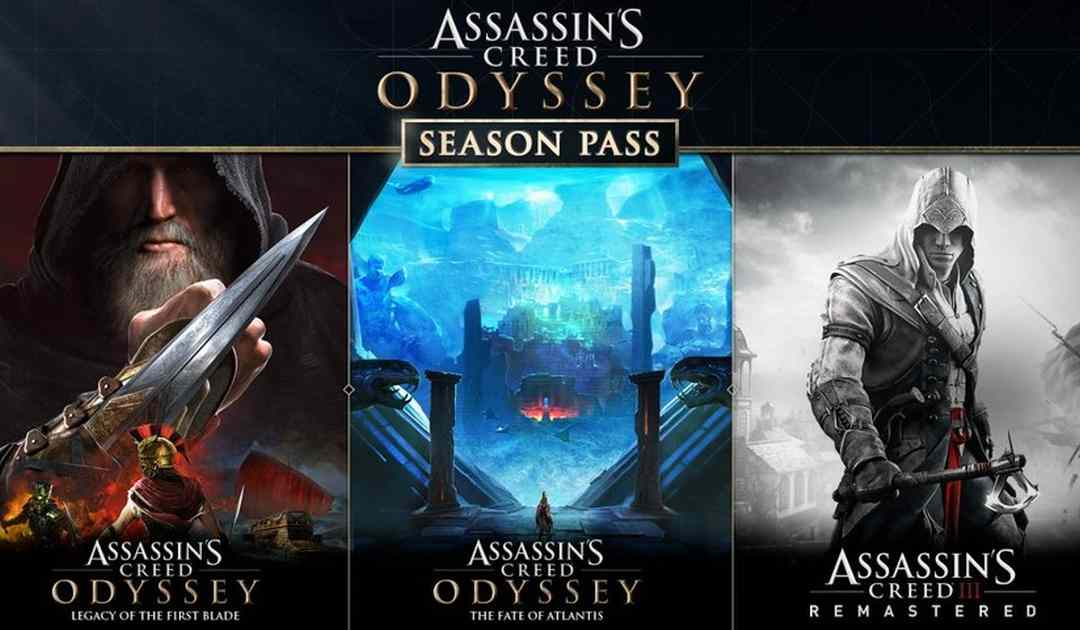 Schermata del Season Pass di Assassin's Creed Odyssey