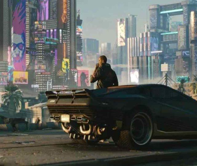 Screenshot dal trailer di Cyberpunk 2077