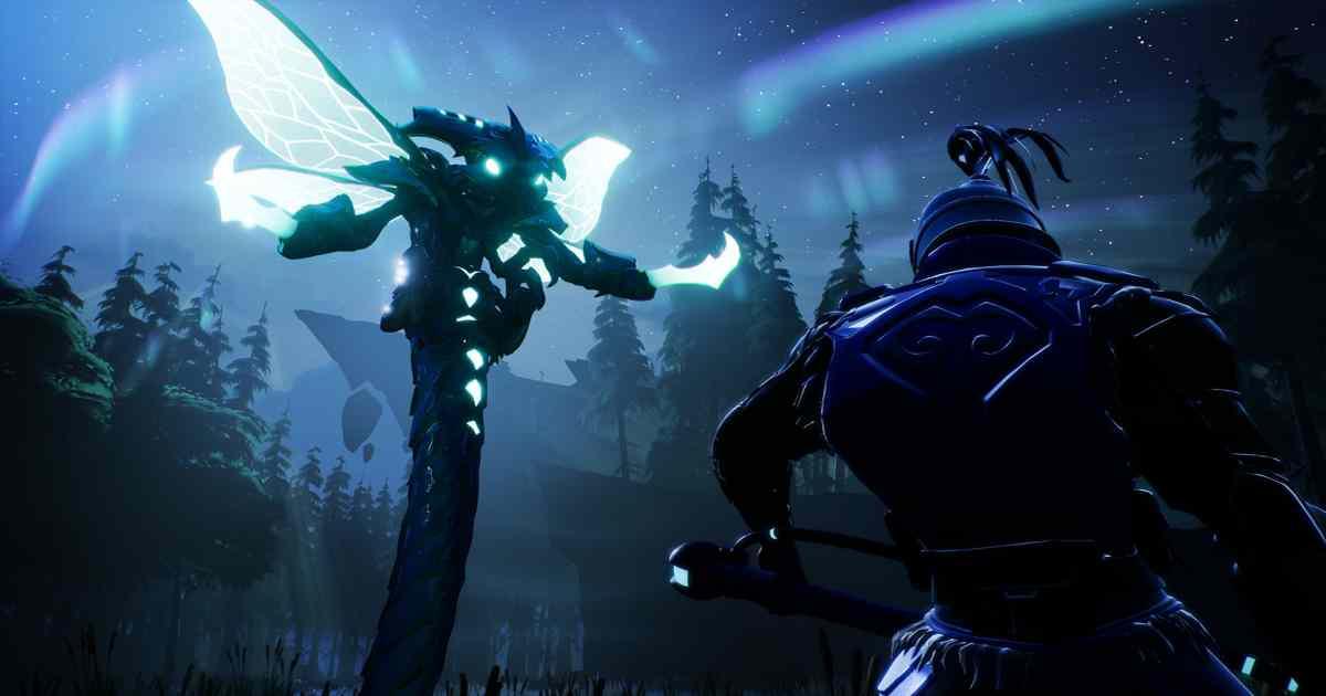 Screenshot promozionale di un Behemot notturno in Dauntless