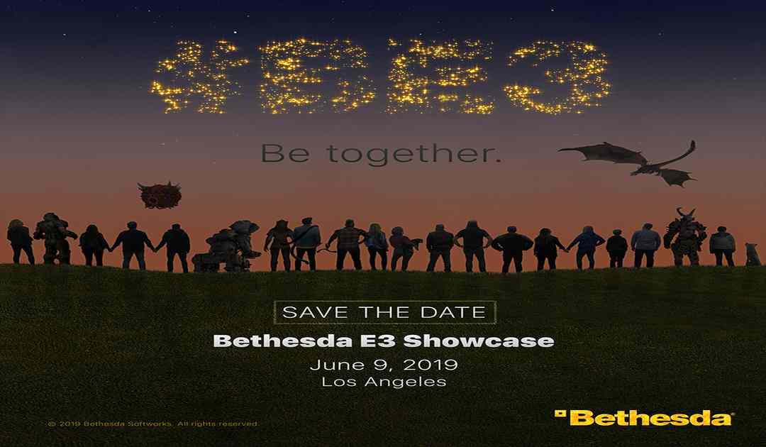 Locandina della conferenza Bethesda all'E3 2019