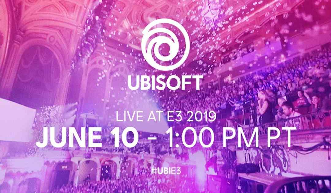 Locandina della conferenza Ubisoft all'E3 2019