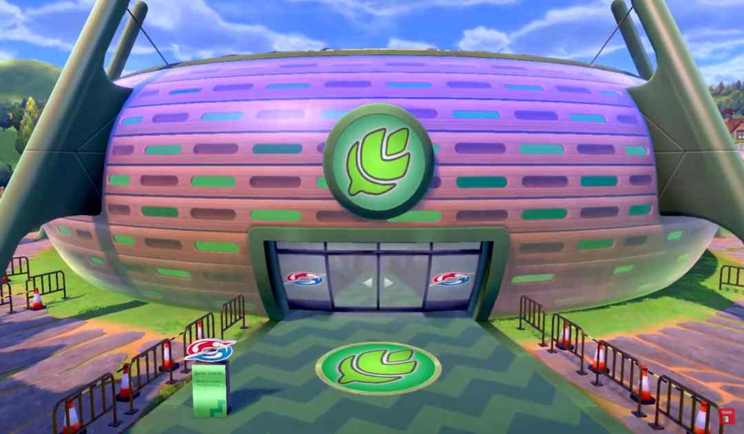 Screenshot di una Palestra dal trailer di Pokémon Spada&Scudo