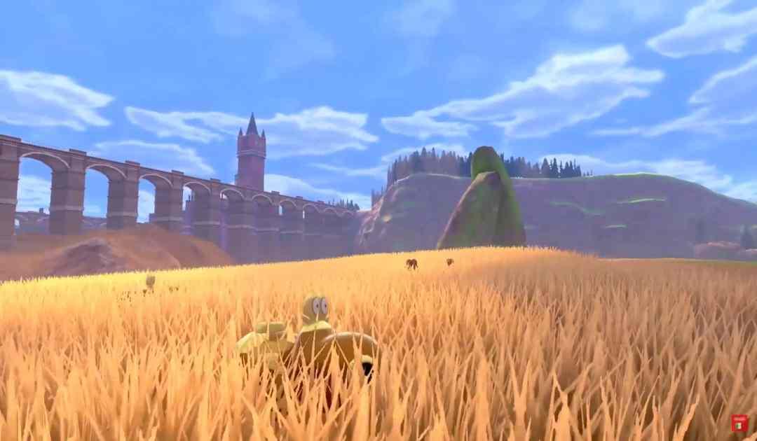Screenshot delle Terre Selvagge su Pokémon Spada&Scudo