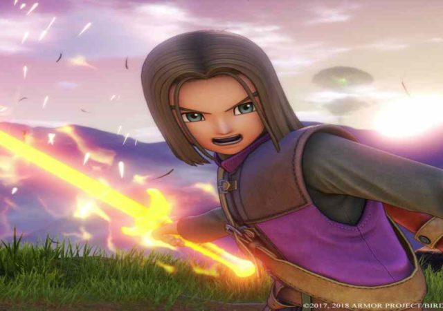 Screenshot del protagonista di Dragon Quest XI