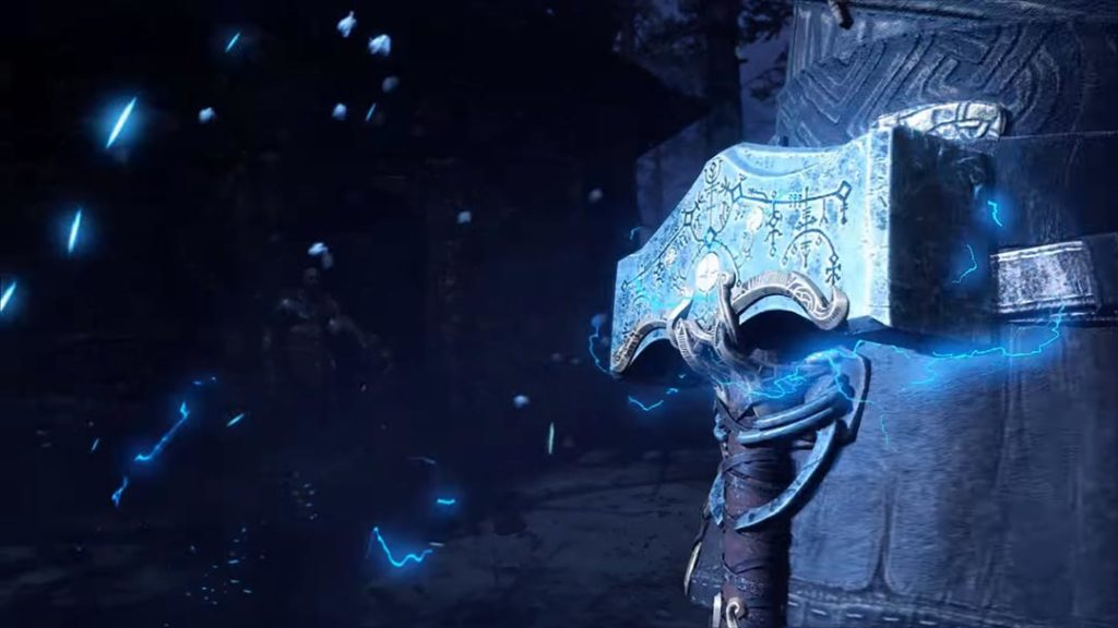 Thor e Mjollnir in God of War 4