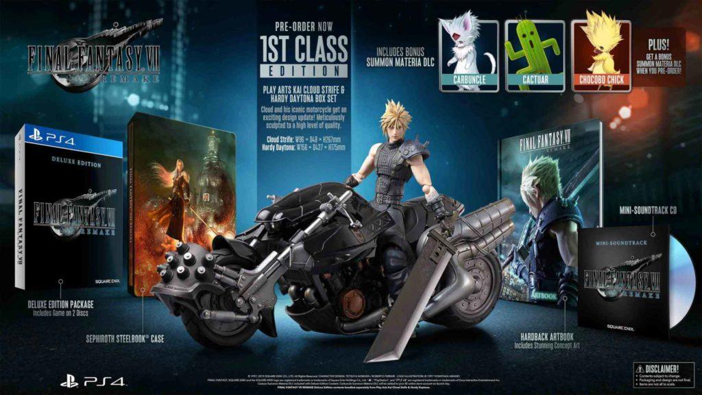 Final Fantasy VII 1st Class Edition: tutti i contenuti