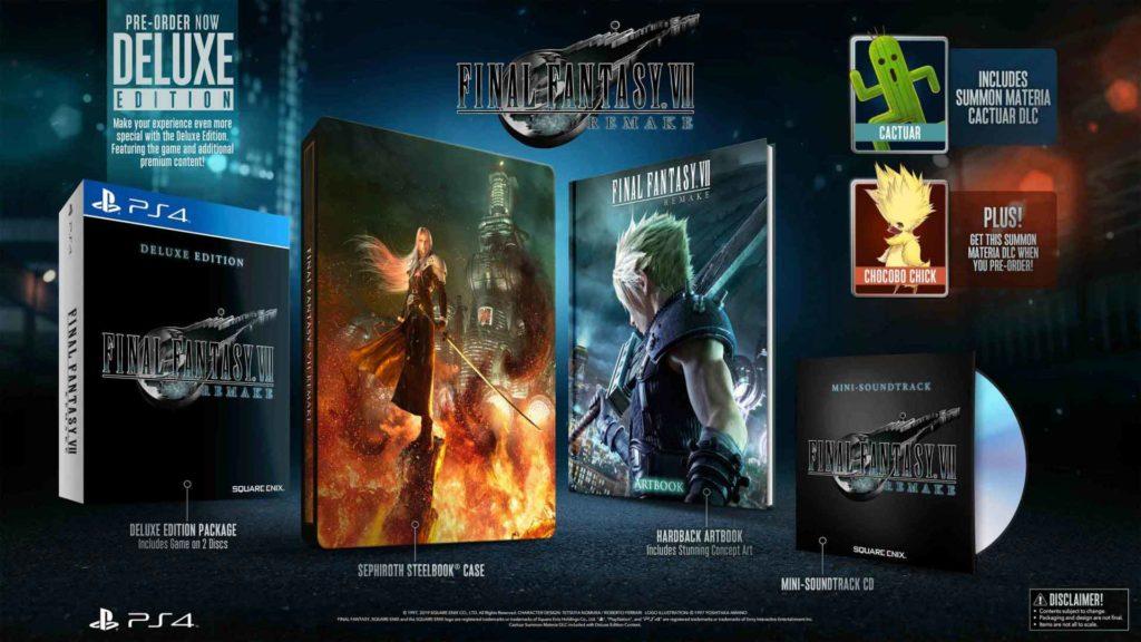 Final Fantasy VII Deluxe Edition: tutti i contenuti