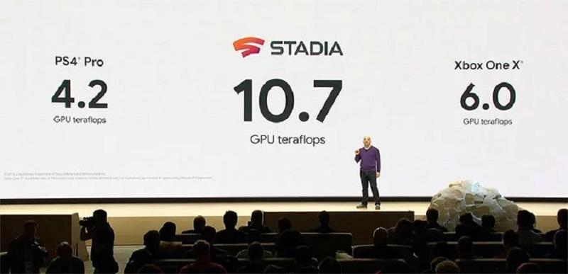 i dati tecnici di google stadia