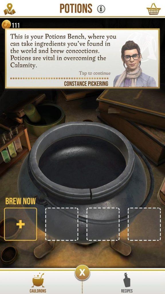guida alle pozioni e agli ingredienti di harry potter wizards unite