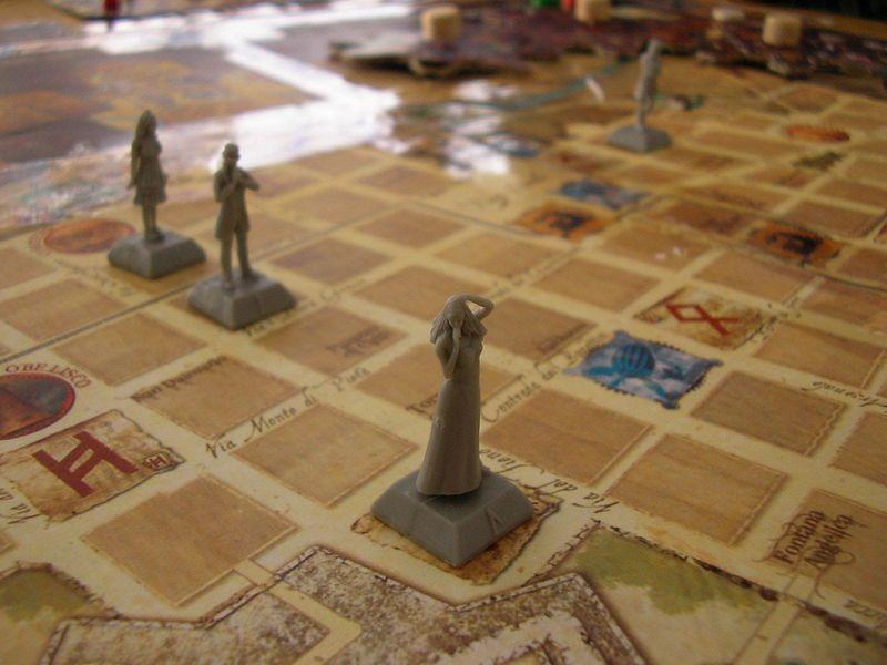 il dettaglio della board e delle miniature di 011