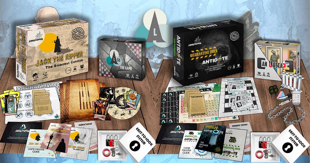 Escape Room Board Game Components